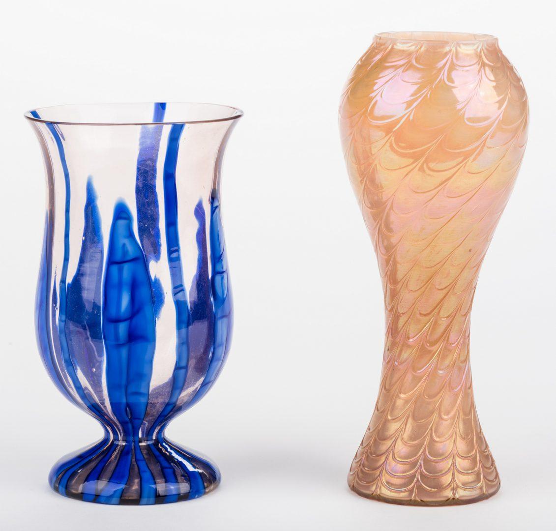 Lot 519: 2 Art Glass vases attr. Kralik
