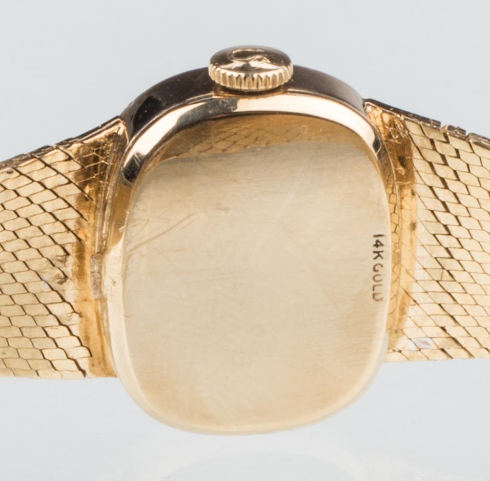 Lot 525: 14K Ladies Omega Diamond Watch