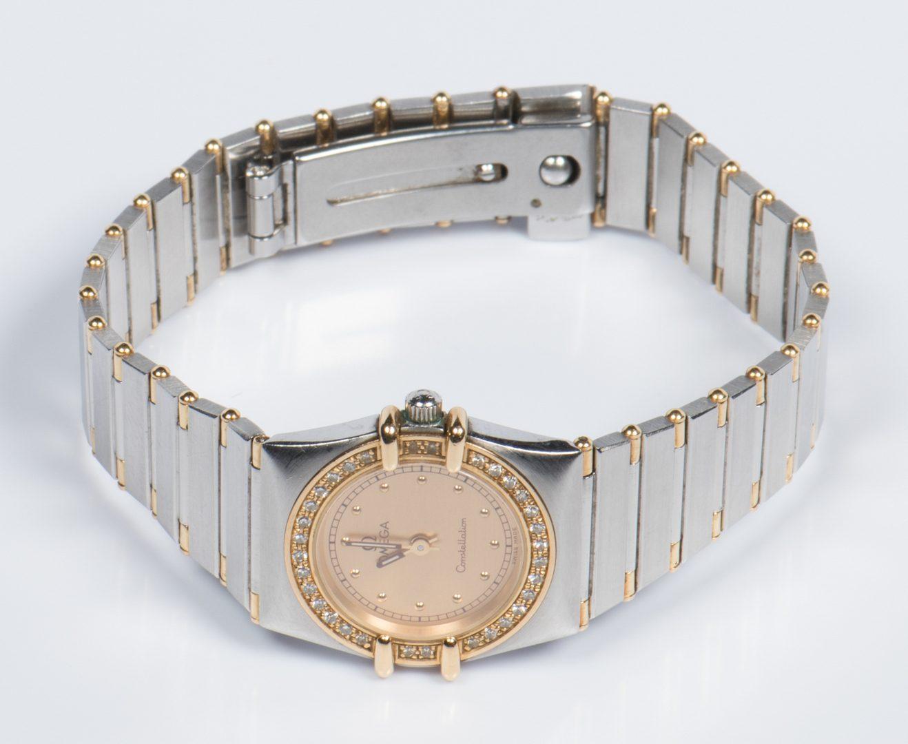 Lot 526: Omega Constellation Diamond Watch