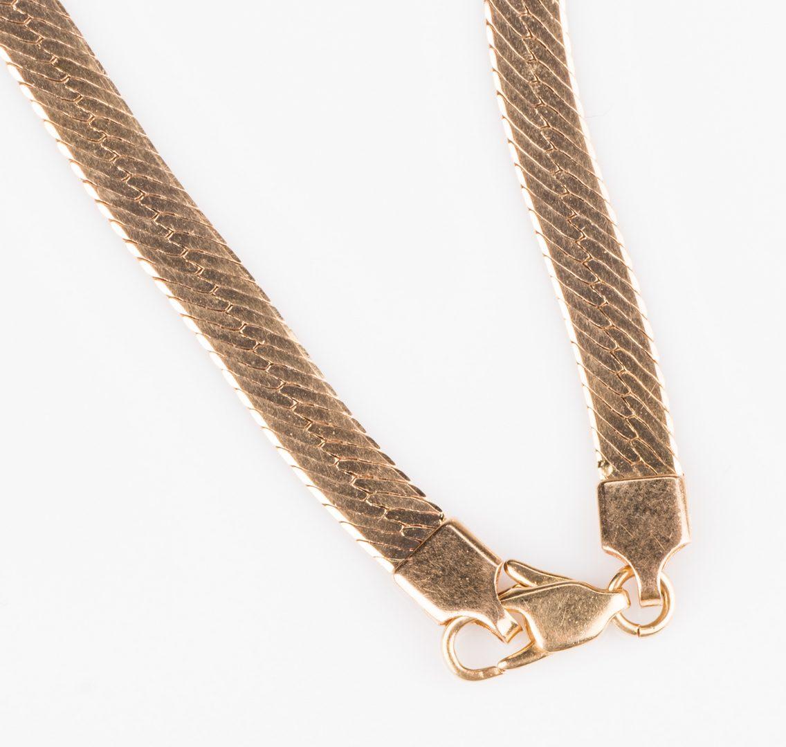 "Lot 530: 14K 30"" L Herringbone Necklace"