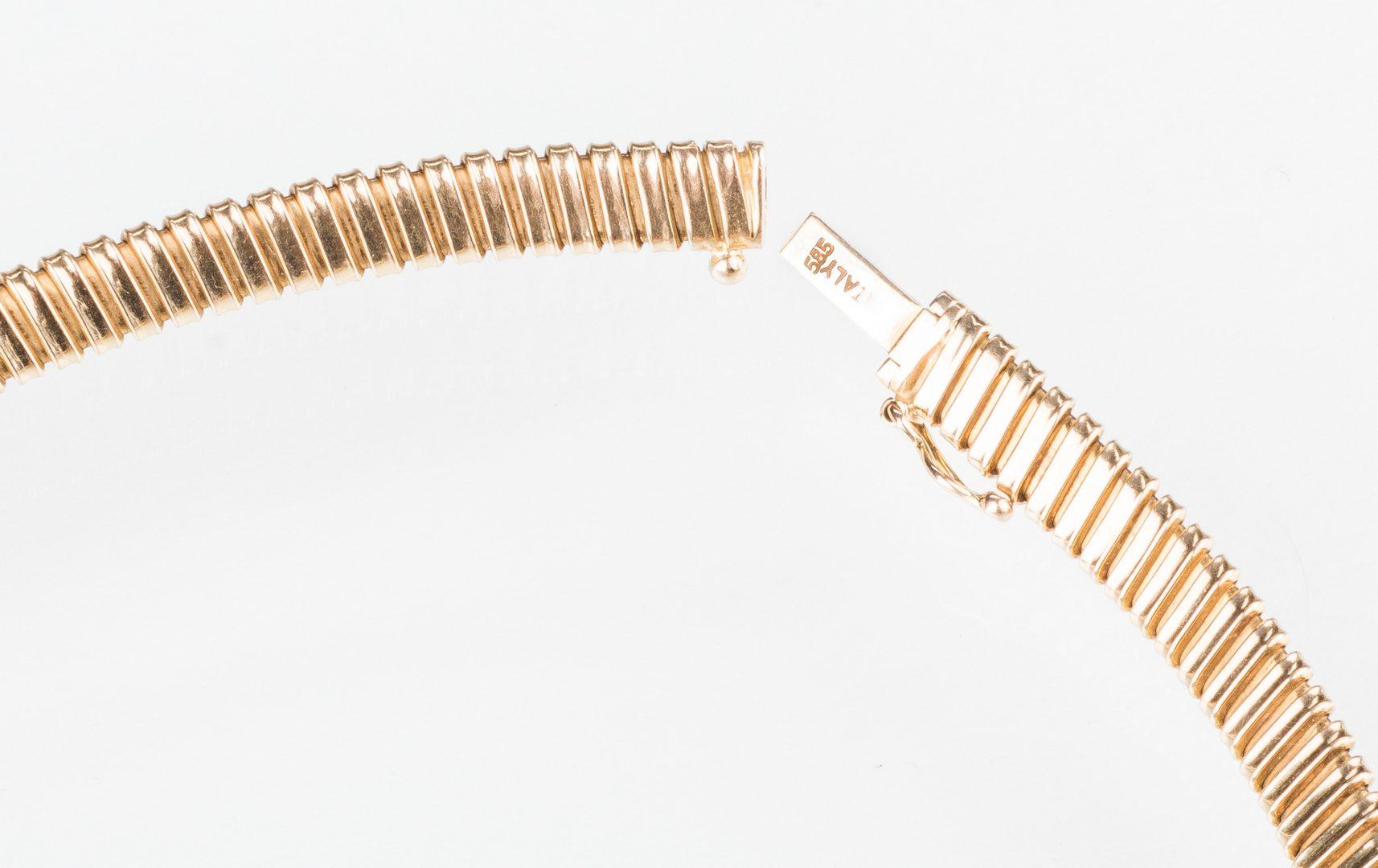 Lot 531: 14K Tube Necklace; Amethyst Enhancer, 2 items