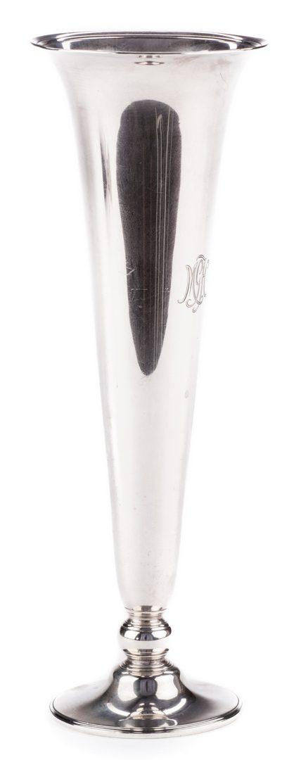 Lot 537: Large Tiffany Sterling Silver Trumpet Vase