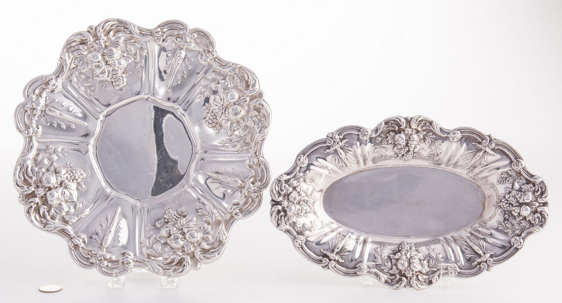 Lot 538: 2 Francis I Sterling Serving Plates