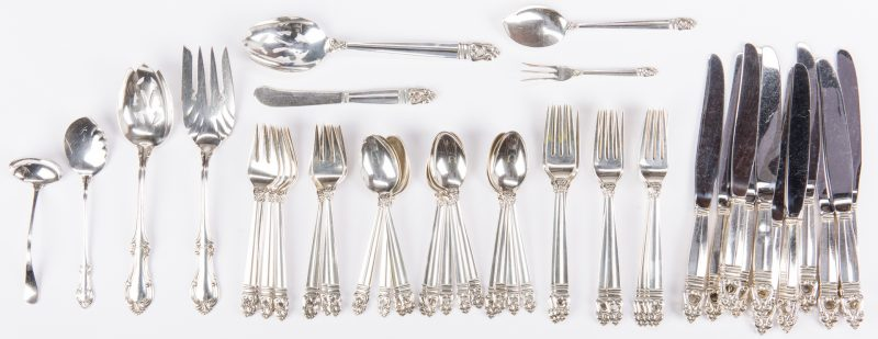 Lot 540: 53 Piece Sterling Silver Flatware, inc. Royal Danish