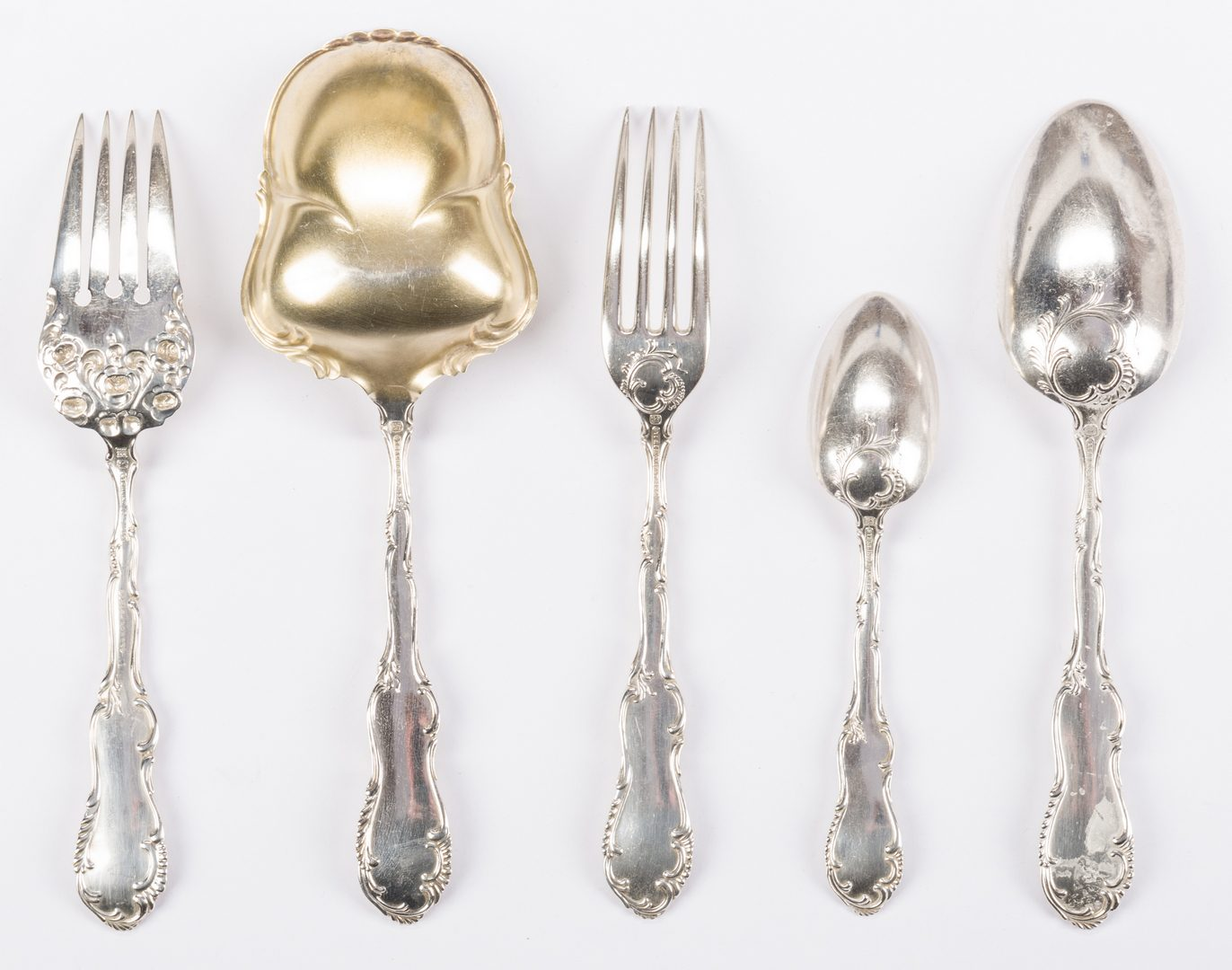 Lot 541: Towle Old English Sterling Flatware, 38 pcs