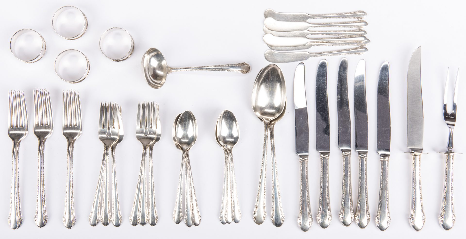 Lot 543: Alvin Sterling Flatware & more, 36 pcs