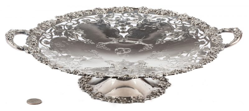Lot 545: Gorham Sterling Pierced Cake Stand