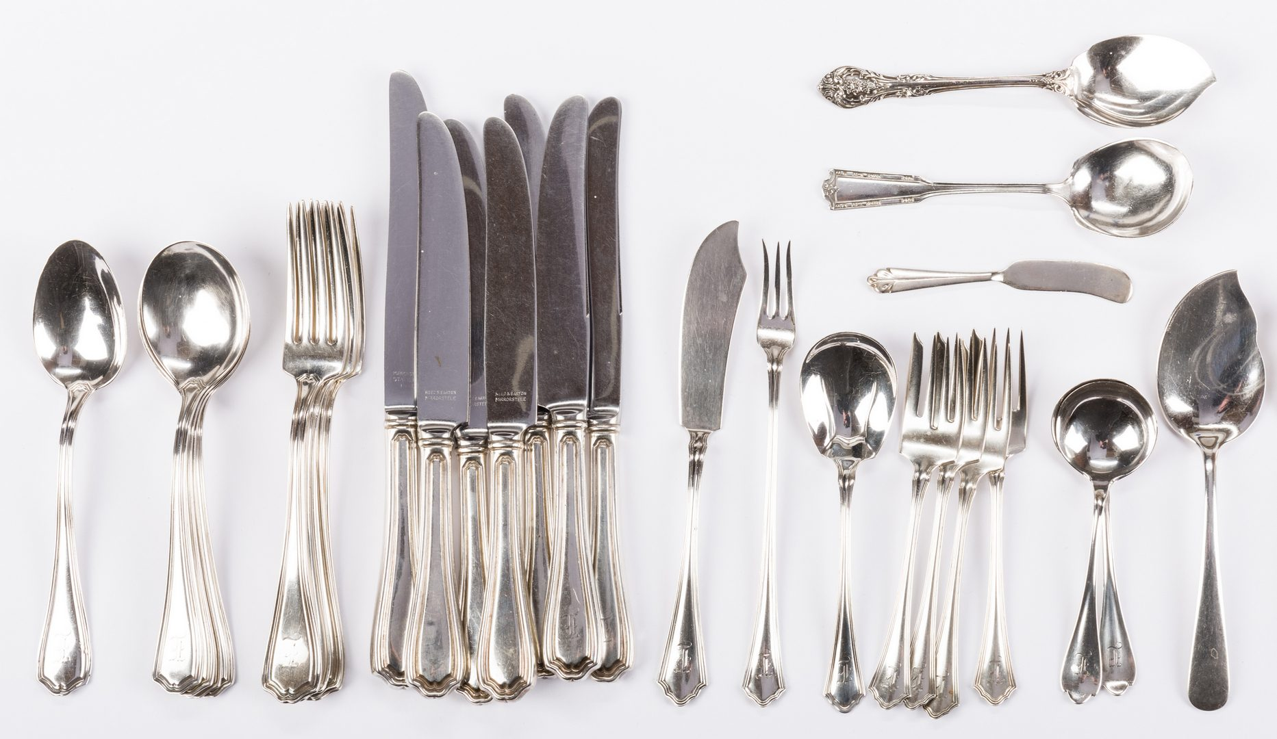 Lot 548: 48 pcs Assorted Sterling and Coin Silver Flatware