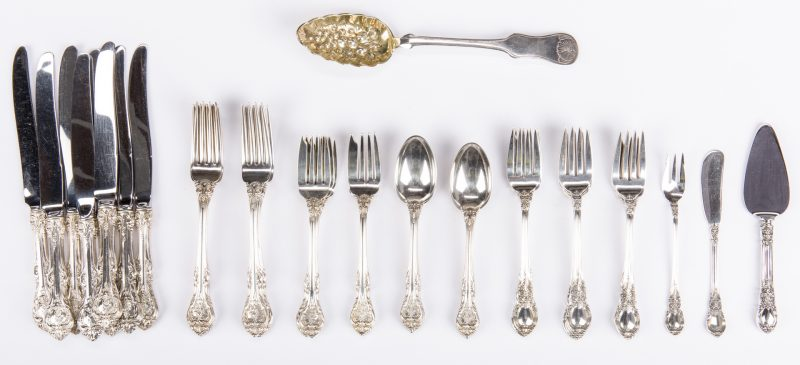 Lot 549: 44 Pieces Silver Flatware inc. Gorham King Edward