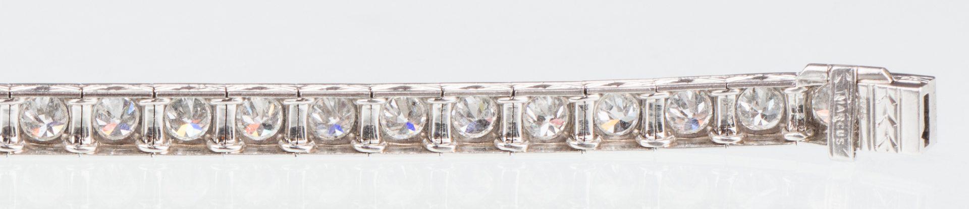 Lot 54: Marcus and Co. Diamond Bracelet, 6.8 cts.
