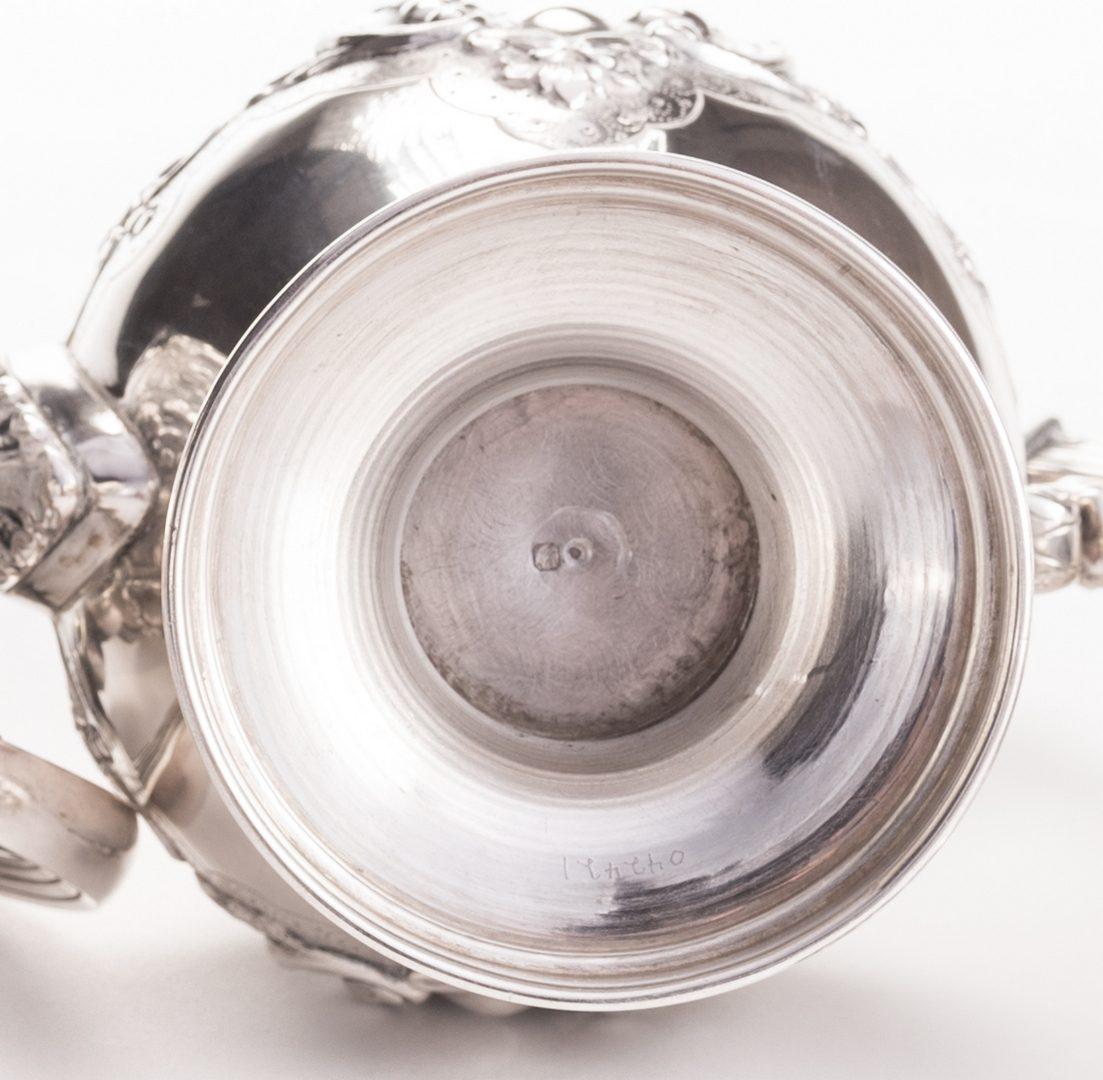Lot 552: Portuguese Silver Tea Service