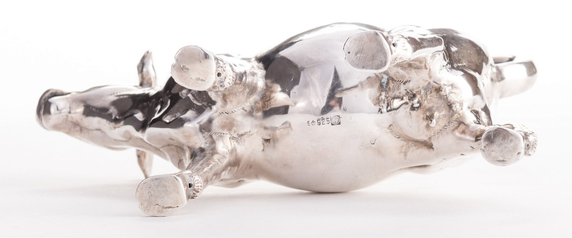 Lot 556: Large German Sterling Cow Creamer