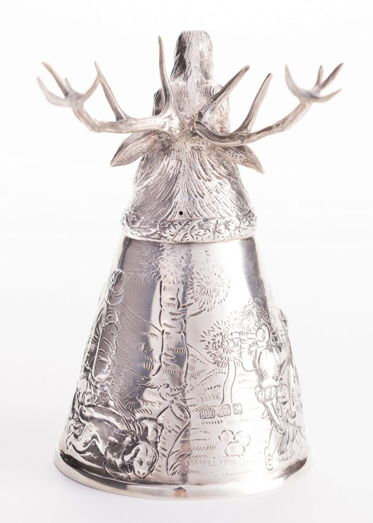 Lot 558: Stag Head German Silver Stirrup Cup