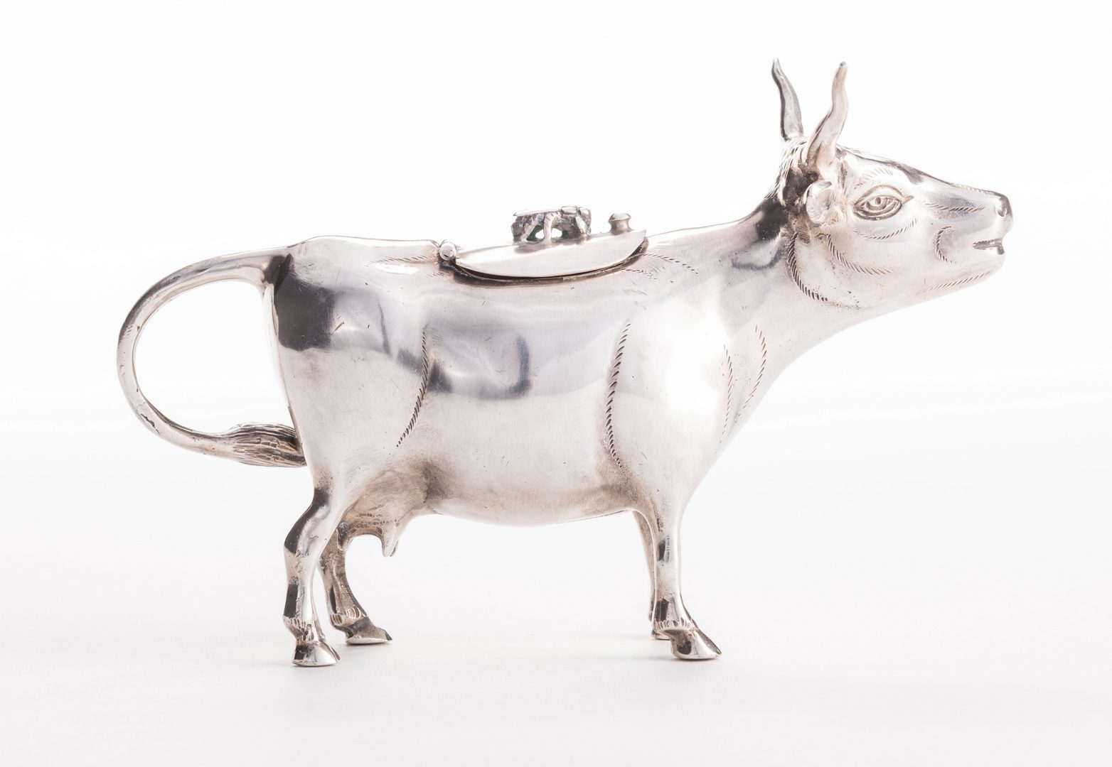 Lot 559: German Sterling Cow Creamer