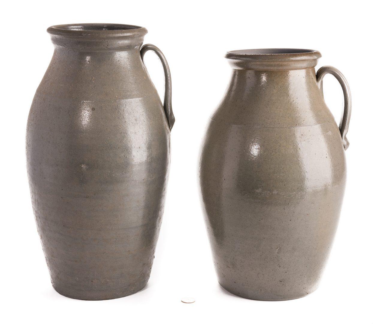 Lot 561: 2 Middle TN Stoneware Honey Jars