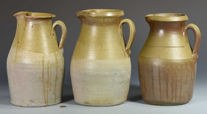 Lot 562: 3 Middle TN Stoneware Pitchers