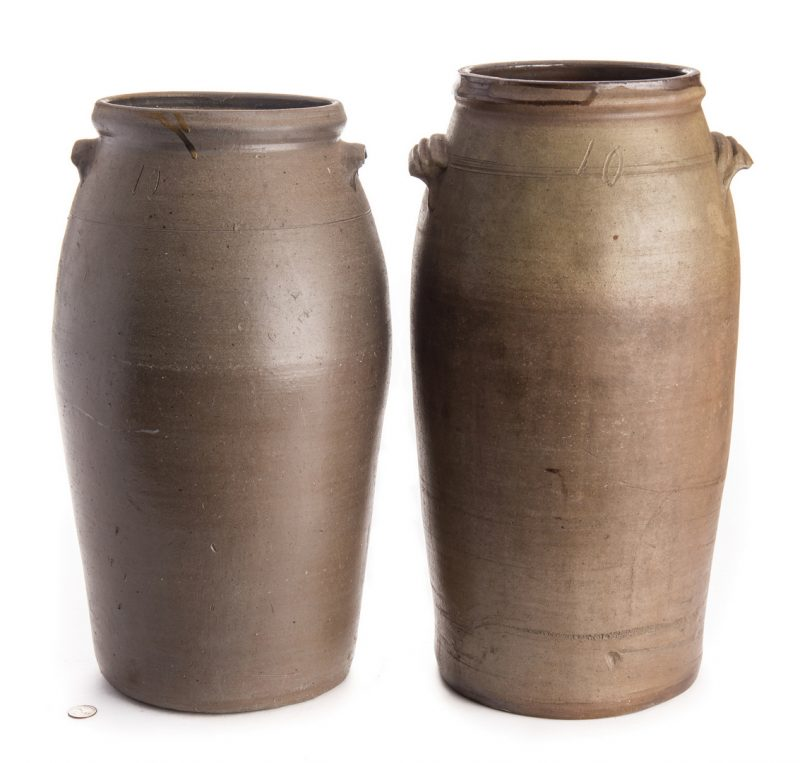 Lot 564: 2 Large Middle TN Stoneware Jars, attrib. LaFever