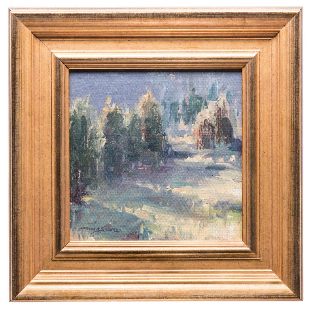 Lot 568: Jason A. Saunders, O/B, Impressionist Landscape