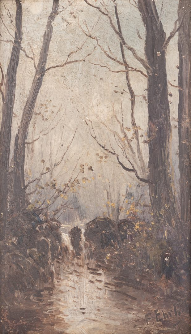 Lot 569: Two American Landscape Paintings