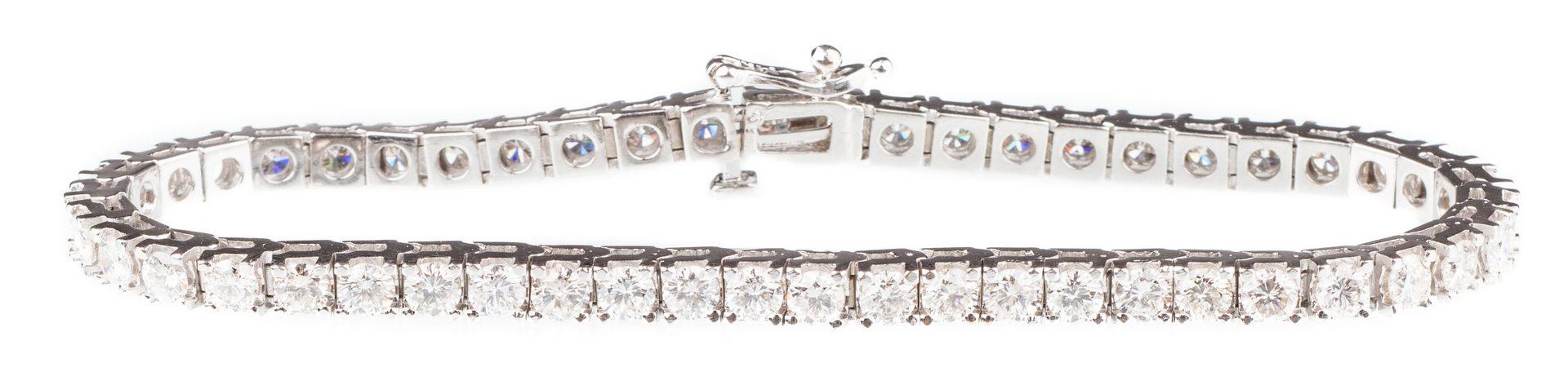 Lot 56: 14K 6 ct tw Diamond Line Bracelet
