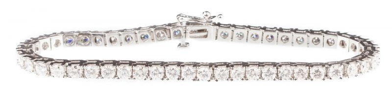 Lot 56: 14K 6 ct tw Diamond Line Bracelet