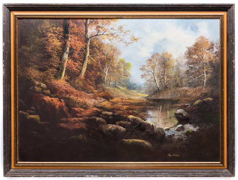 Lot 574: Ron Williams, O/C, Autumn Landscape