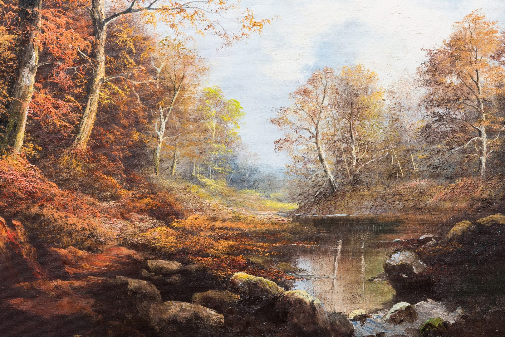 Lot 574: Ron Williams, O/C, Autumn Landscape
