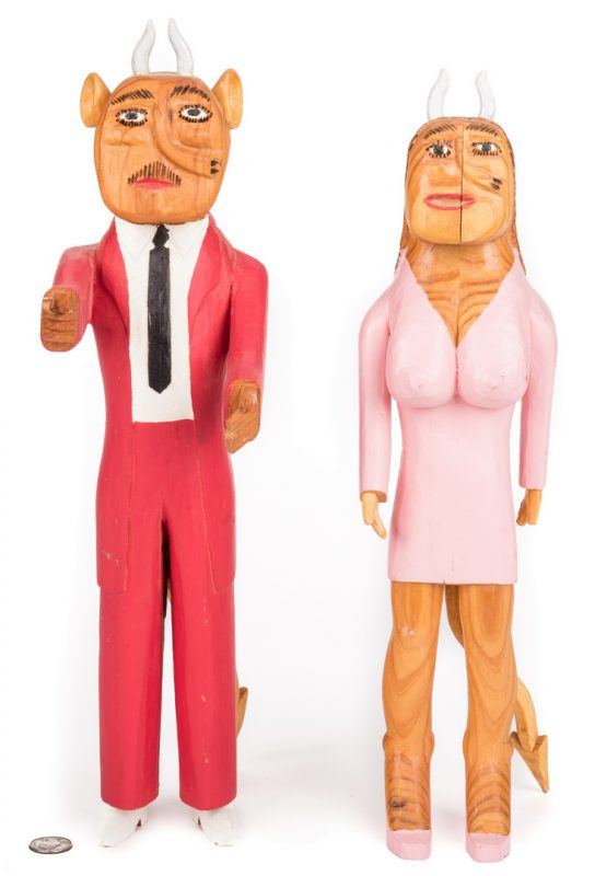 Lot 577: Sulton Rogers Devil Couple, 2 items