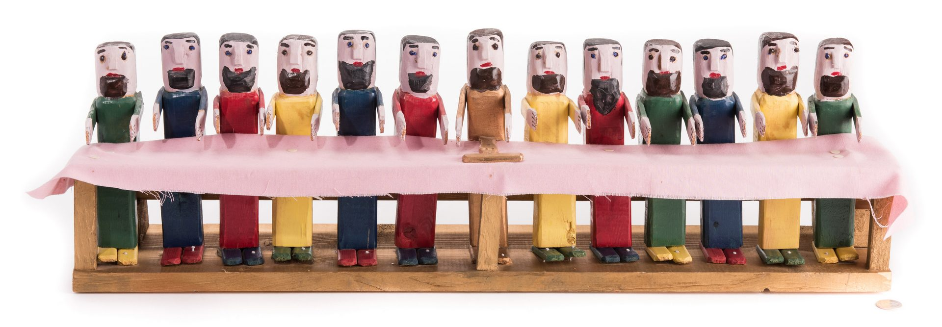 Lot 580: Braxton Ponder Carving, Last Supper