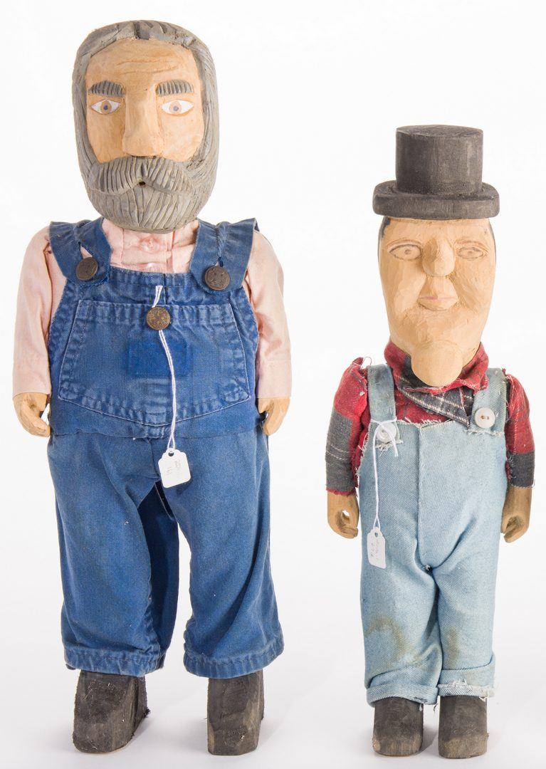 Lot 581: 4 Folk Art Male Carvings, inc. Webb Family