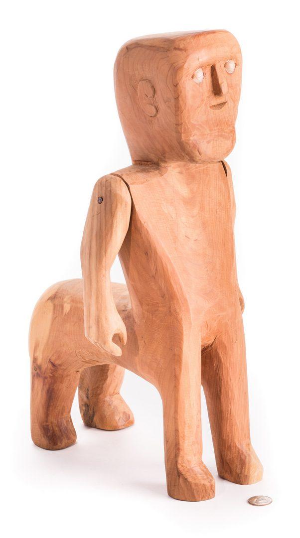 Lot 582: Troy Webb Folk Art Carving, Centaur