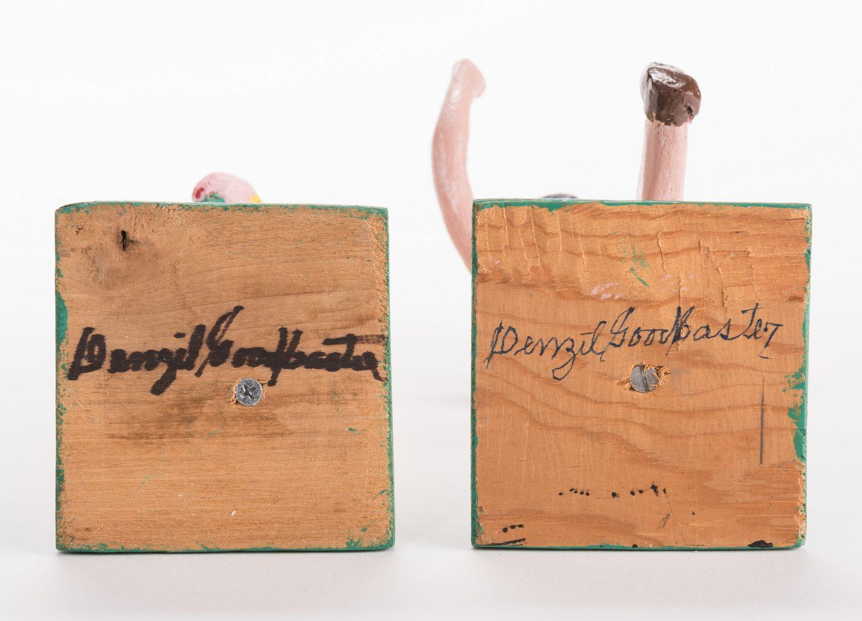 Lot 583: 2 Denzil Goodpaster Carvings, inc. Dolly Parton