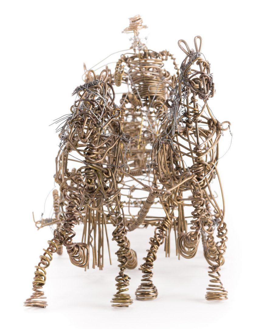 Lot 584: 2 Vannoy Streeter Wire Sculptures