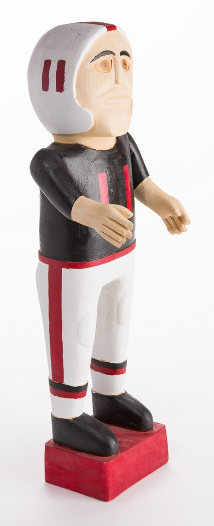 Lot 585: Wimp Gibson Carving, Football Player