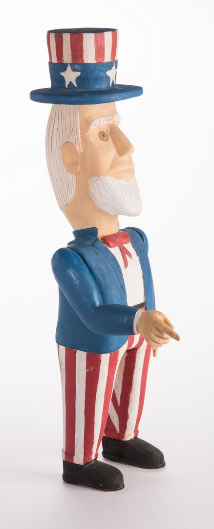 Lot 586: Wimp Gibson Carving, Uncle Sam