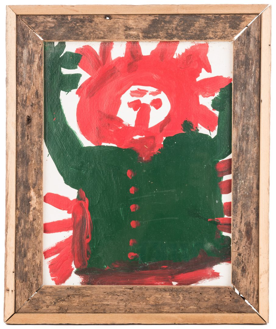 Lot 587: Mary Tillman Smith, Figure in Red and Green