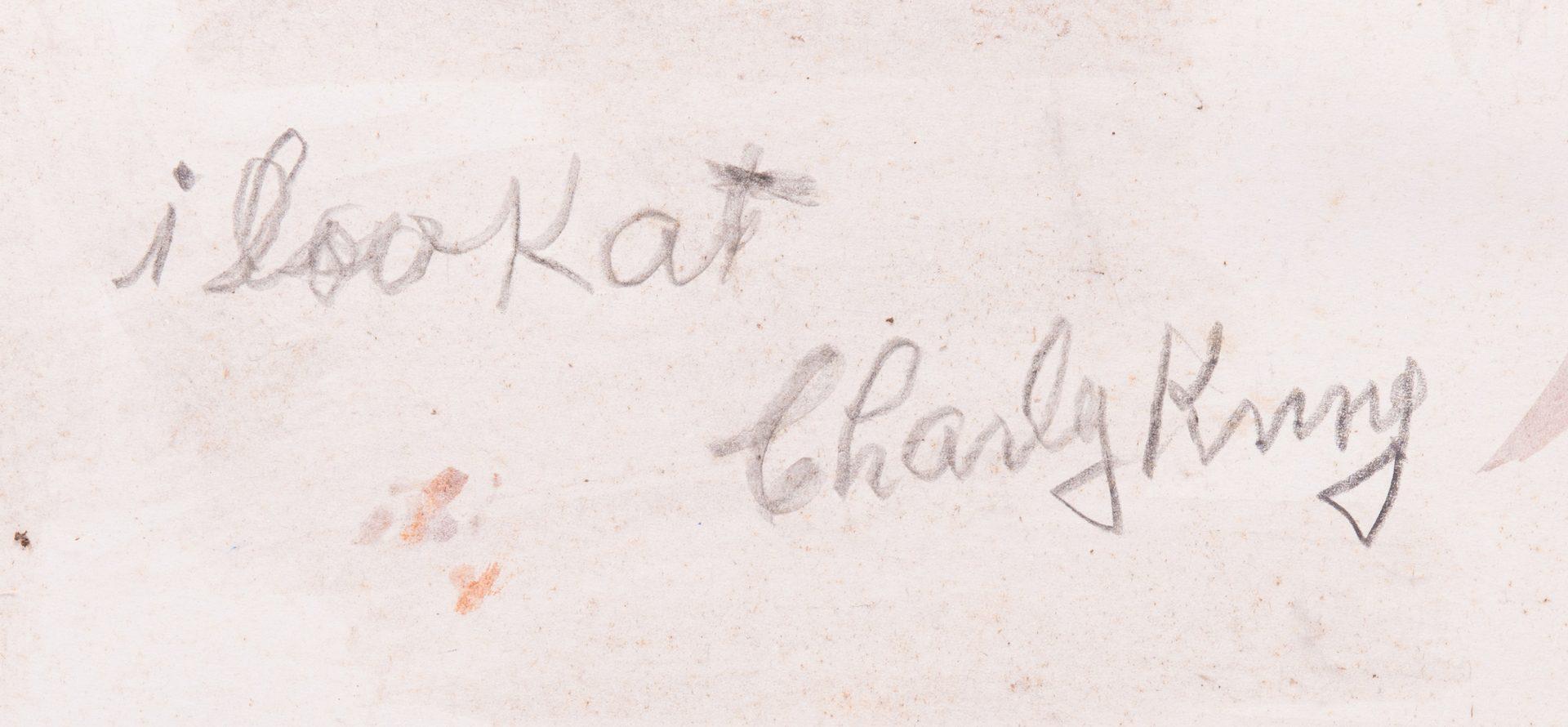 Lot 588: 2 Folk Art Paintings, S. L. Jones & Charly King