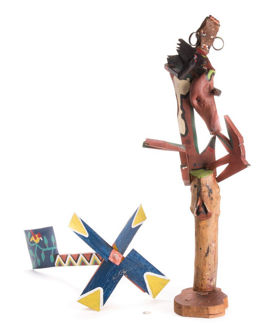 Lot 590: 2 Folk Art Assemblages, inc. Webster, Jennings