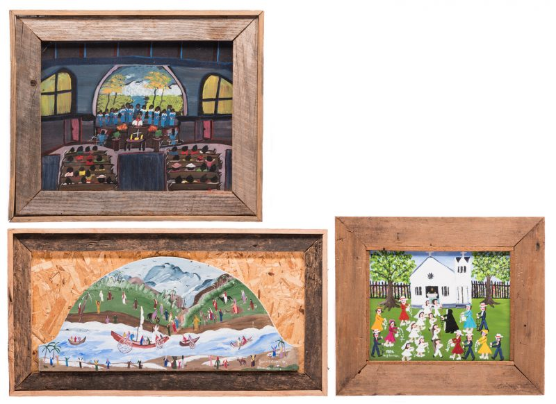 Lot 592: 3 Works of Folk Art, inc. Kugler, Cooper
