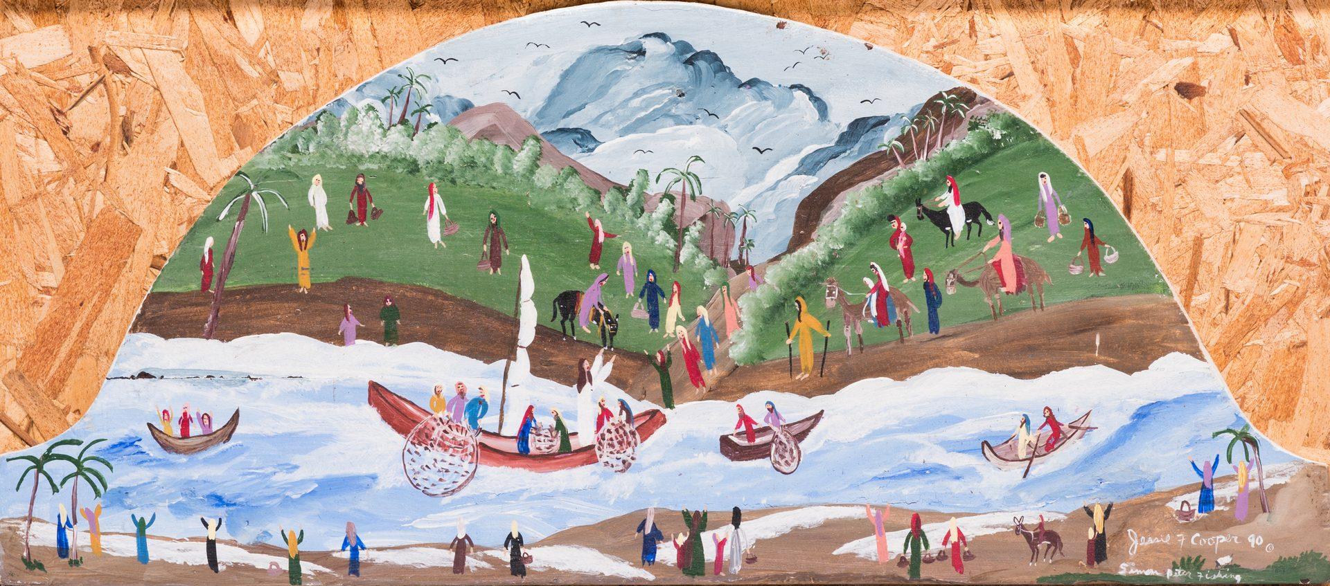 Lot 592: 3 Works of Folk Art, inc. Kugler, Cooper
