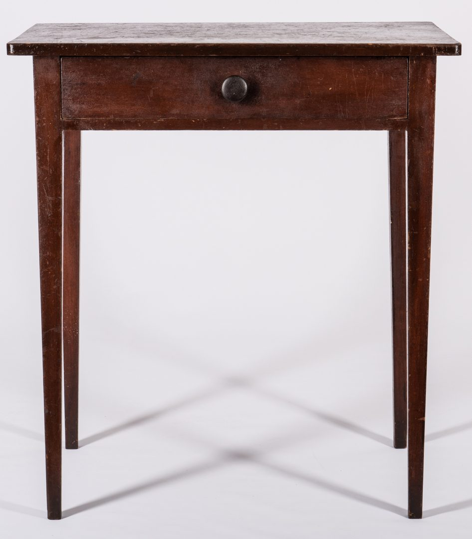 Lot 593: Hepplewhite One Drawer Table, Old Surface