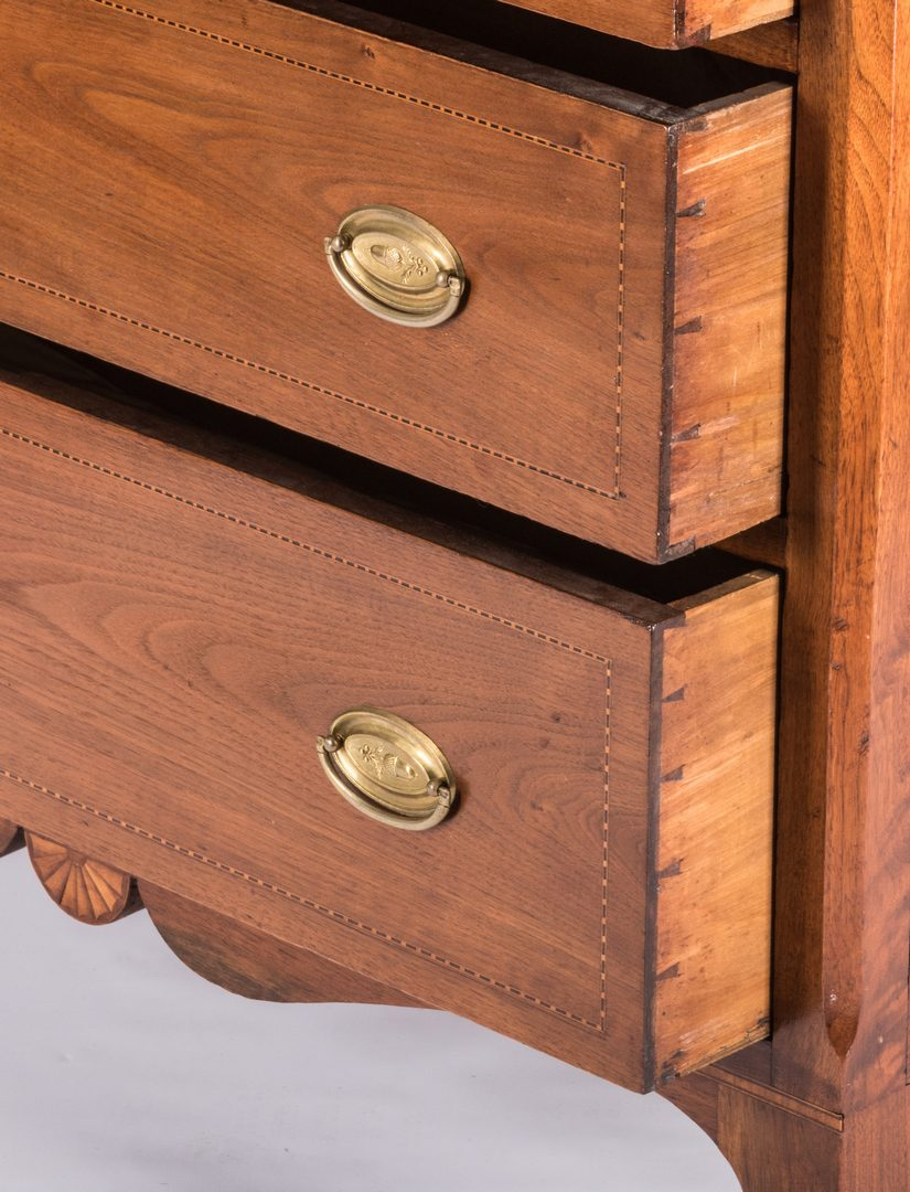 Lot 594: Southern Inlaid Hepplewhite Chest of Drawers