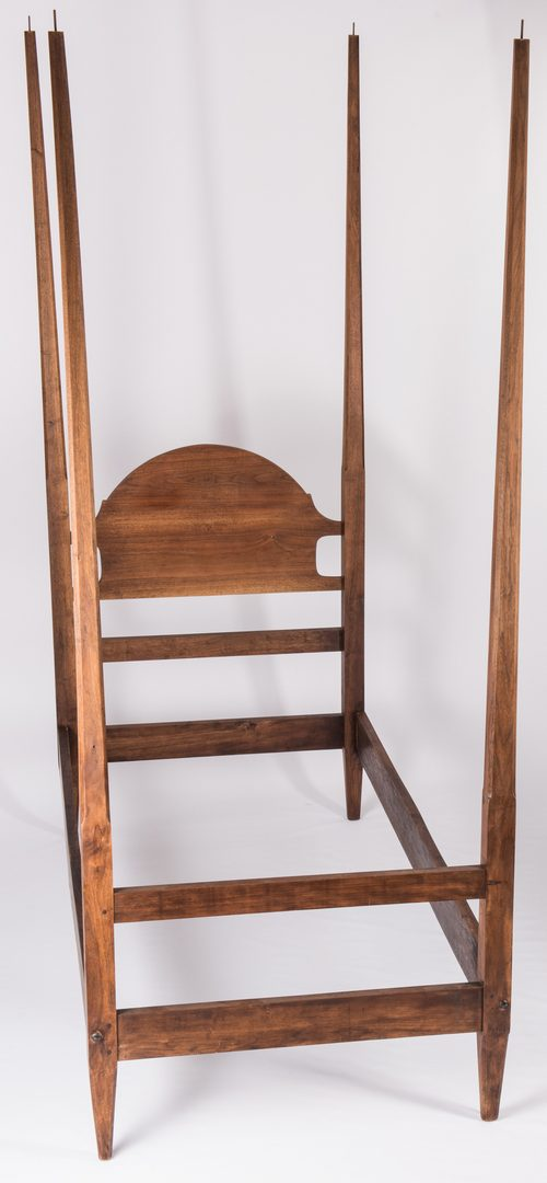 Lot 595: Pr. Single Size Walnut Pencil Post Beds