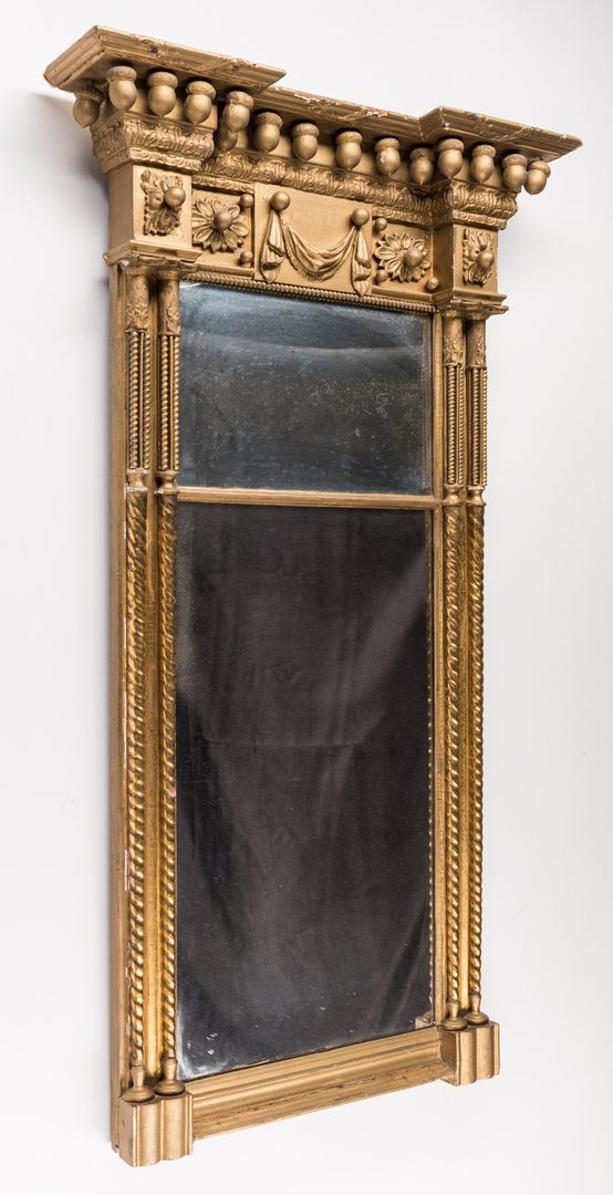 Lot 596: Federal Carved Gilt Pier Mirror