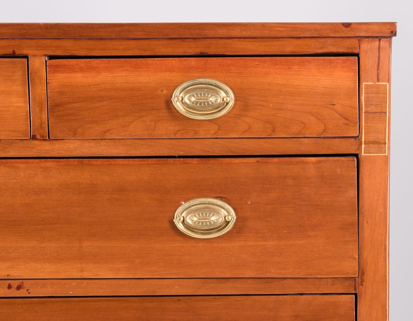 Lot 602: American Sheraton Chest w/ Inlaid Stiles