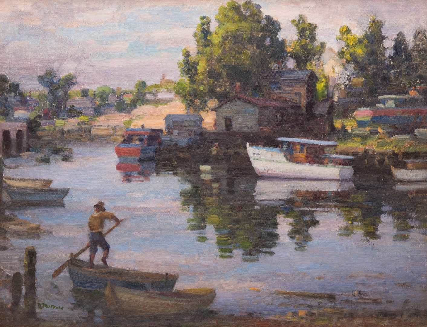 Lot 604: 2 Gaspere Ruffolo, O/B Water Scenes, poss. New England