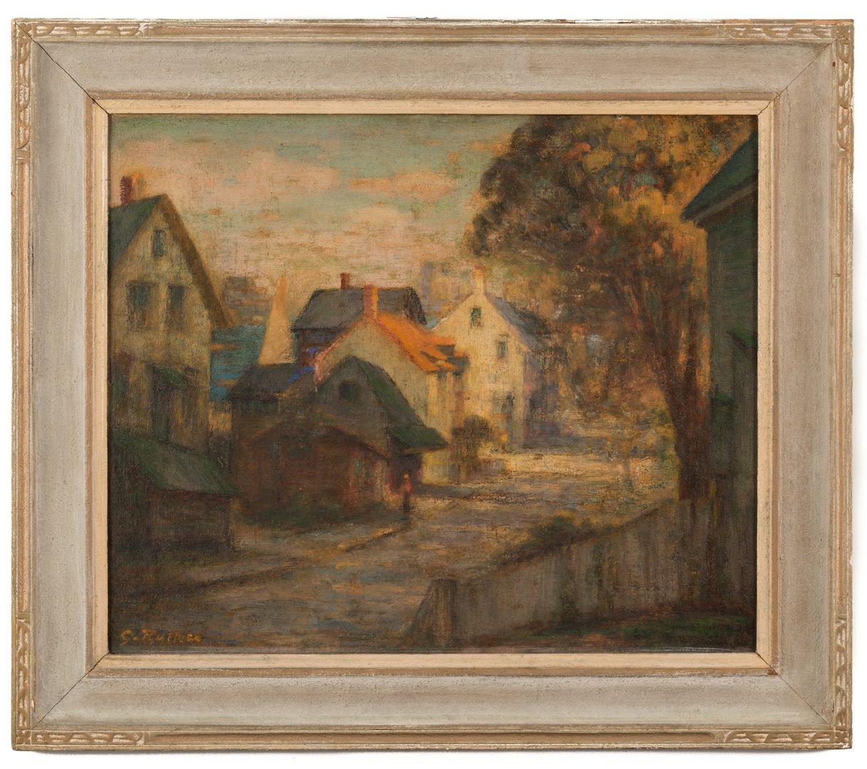 Lot 605: Gaspere Ruffolo Oil, Gloucester MA