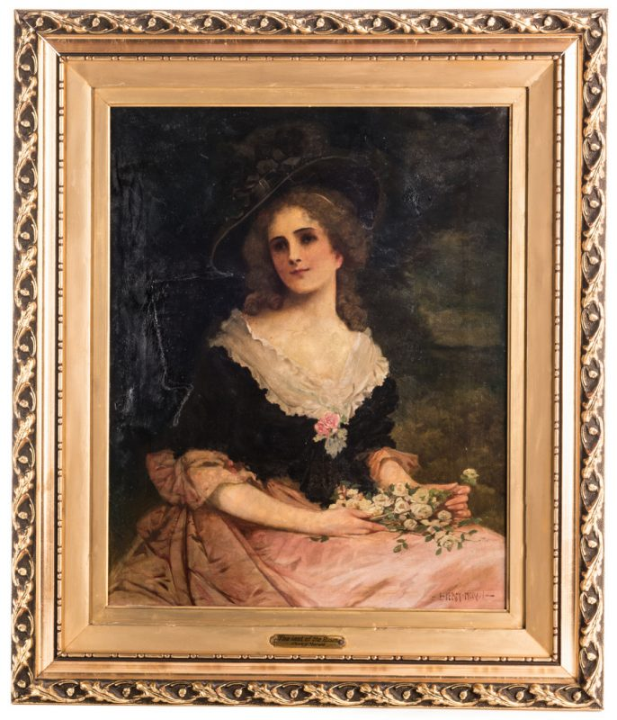 Lot 609: Percy Moran Oil on Canvas Portrait