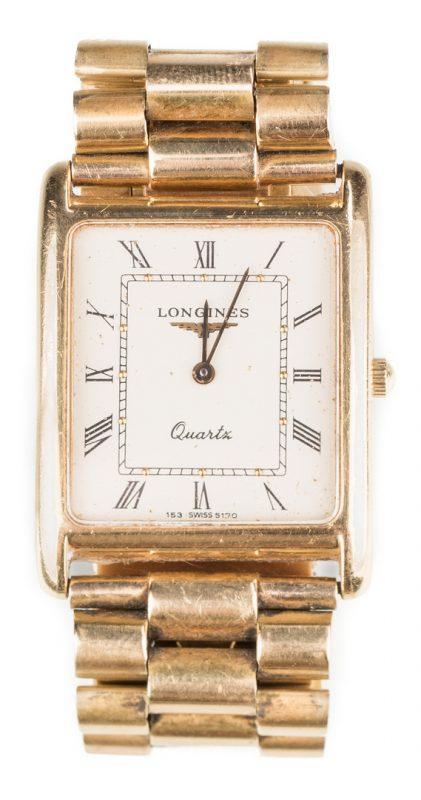 Lot 60: 18K Band Longines Quartz watch