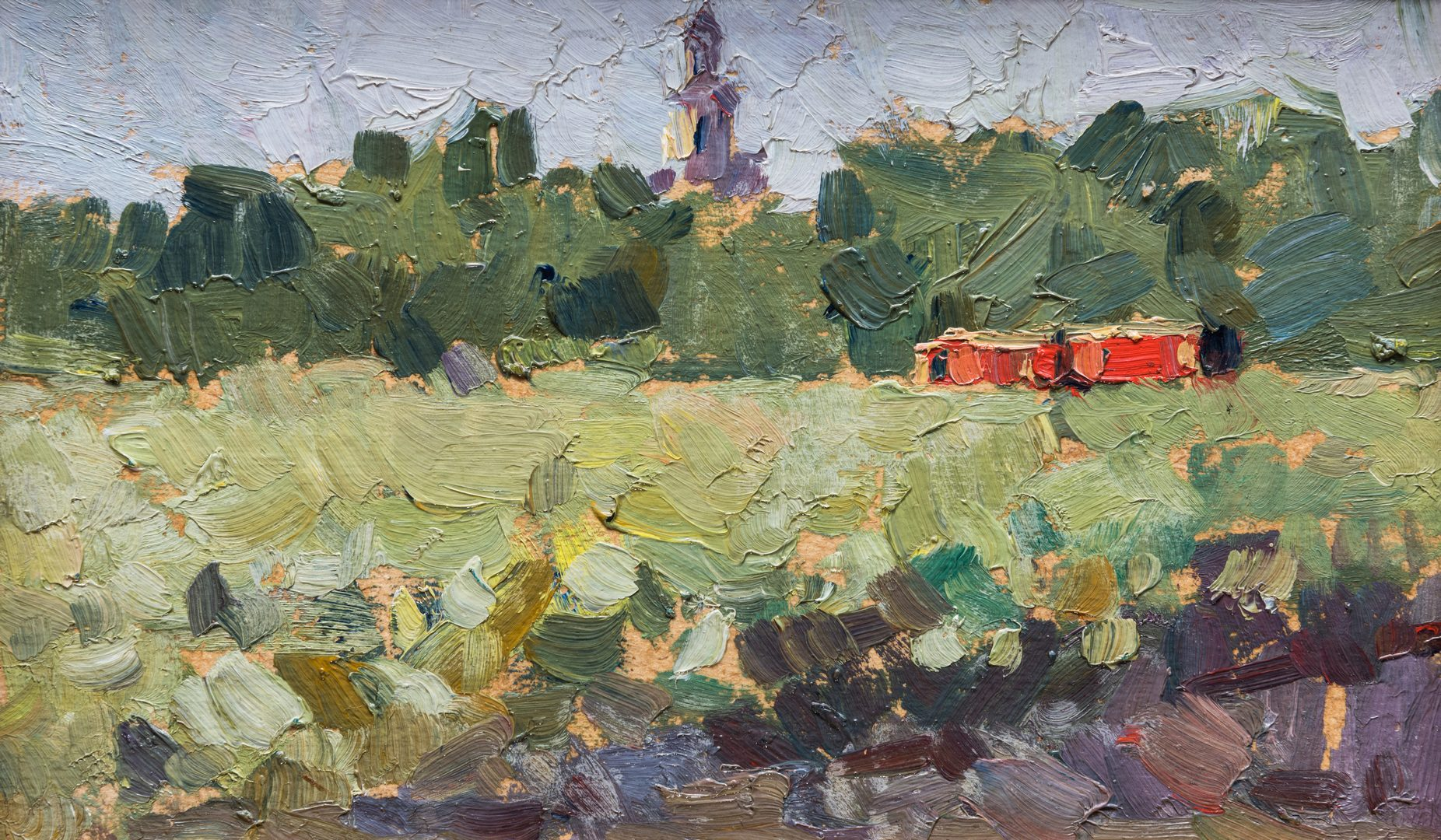 Lot 615: 2 Russian School Impressionist Landscapes
